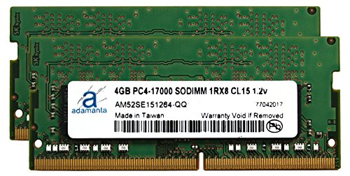 Adamanta 8GB (2x4GB) Laptop Memory Upgrade for Acer プレデター 15 G9-591-753F DDR4 2133 PC4-17000 SODIMM 1Rx8 CL15 1.2v ノート RAM RAM (海外取寄せ品)
