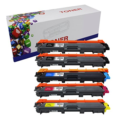 Hi ink Compatible Toner Cartridge リプレイスメント for Brother TN221 TN225 (2 ブラック, 1 シアン, 1 イエロー, 1 Magenta, 5-Pack) (海外取寄せ品)