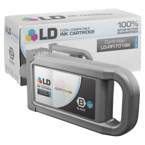 LD c Compatible リプレイスメント for Canon PFI-701BK ハイ Yield ブラック Pigment Inkjet Cartridge for use in Canon imagePROGRAF iPF8000, iPF8000s, iPF9000, and iPF9000s Printers (海外取寄せ品)