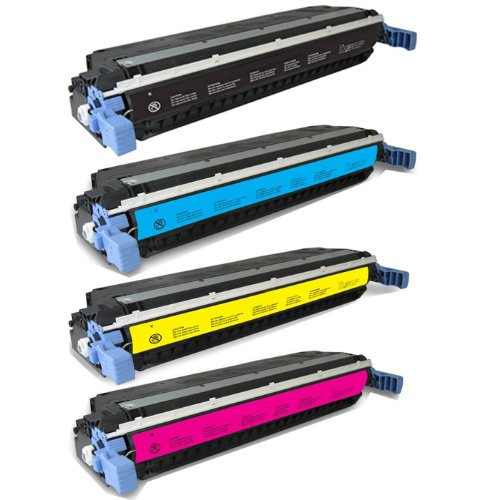 HI-ビジョン HI-YIELDS R Remanufactured Toner Cartridge リプレイスメント for Hewlett-Packard C9730A C9731A C9732A C9733A (1 ブラック , 1 シアン, 1xYellow, 1 Magenta, 4-Pack) (海外取寄せ品)