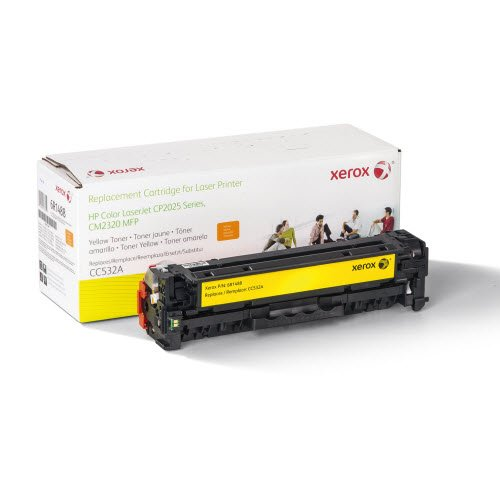 Xerox プレミアム リプレイスメント イエロー Laser Toner Cartridge for Hewlett Packard CC532A (304A) - メイド in the U.S.A (海外取寄せ品)