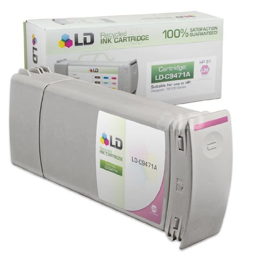 LD c Remanufactured リプレイスメント for HP 91 / C9471A Pigment Light Magenta (海外取寄せ品)