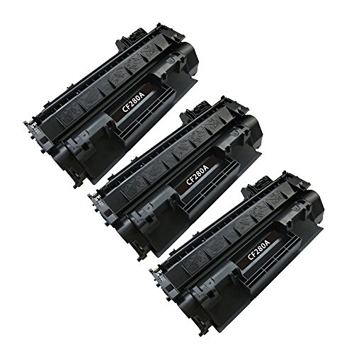 BavvoR Compatible Toner Cartridge for HP 80A(CF280A) use in HP カラー Laserjet プロ 400 M425dn Printer - パック of 3 ブラック - ハイ Yield (海外取寄せ品)