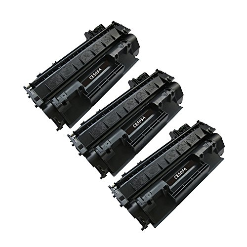 BavvoR Compatible Toner Cartridge for HP 05A(CE505A) use in HP LaserJet P2035n Printer - パック of 3 ブラック - ハイ Yield (海外取寄せ品)