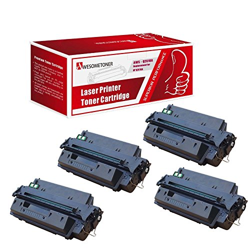 Awesometoner Compatible 4 パック Q2610A Toner Cartridge For HP LaserJet 2300 2300L 2300D 2300DN ハイ Yield 6000 ページ (海外取寄せ品)