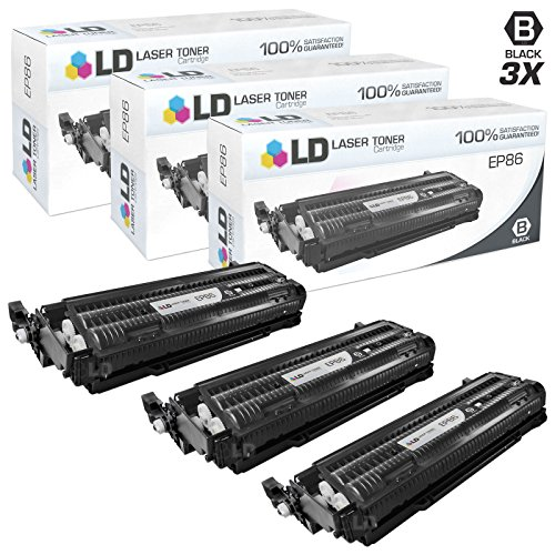 LD c Remanufactured Canon EP-86 (6830A004AA) パック of 3 ブラック Toner Cartridges for ImageClass C3500 (海外取寄せ品)