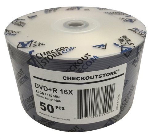 600 CheckOutStore 16X DVD+R 4.7GB シルバー Inkjet Hub Printable (Shrink Wrap) (海外取寄せ品)