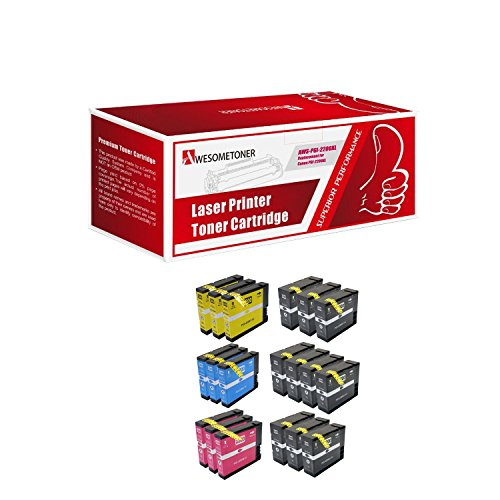 Awesometoner ジェネリック Generic 19Pack Compatible PGI-2200XL 3Set + 7BK Compatible for Canon MAXIFY iB4020 Series (10 ブラック 3 シアン 3 Magenta 3 Yellow) (海外取寄せ品)