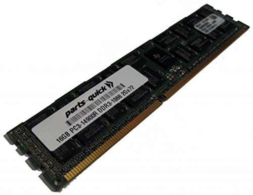 16GB Memory Upgrade for ASUS RS Server RS720-E7/RS12-E DDR3 PC3-14900 1866 MHz ECC レジスター DIMM RAM (PARTS-クイック BRAND) (海外取寄せ品)