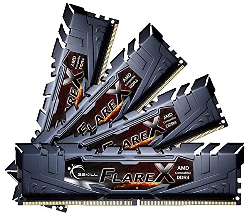 64GB G.Skill Flare X DDR4 2400MHz PC4-19200 for AMD Ryzen CL15 クワッド Channel キット (4x16GB) … (海外取寄せ品)
