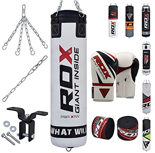RDX Punch Bag Heavy Boxing 4FT 5FT Filled MMA Punching bags Training グローブ Kickboxing 8PC Ceiling Hook (海外取寄せ品)