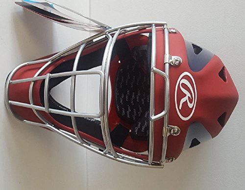 Rawlings CHVELY Velo Youth レッド / ネイビー Catchers ヘルメット フィット 6 1/2-7 (海外取寄せ品)