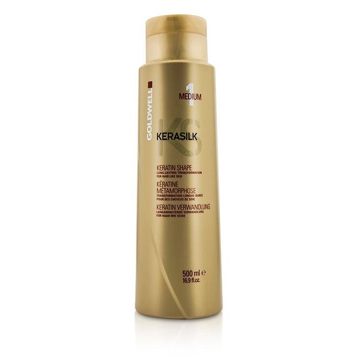 GoldwellKerasilk Keratin Shape Medium 1 - Long Lasting Transformation (For Hair Like Silk)ゴールドウェルケラシルク ケラチンシェープ ミディアム 1 - ロングラスティング トランスフォーメーション (シルクのような髪に仕上がります) 500ml/16.9oz