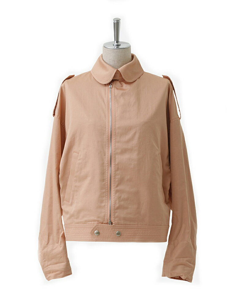 希少 beautiful people ビューティフルピープル 17S/S finx cotton satin french flight jacket coral