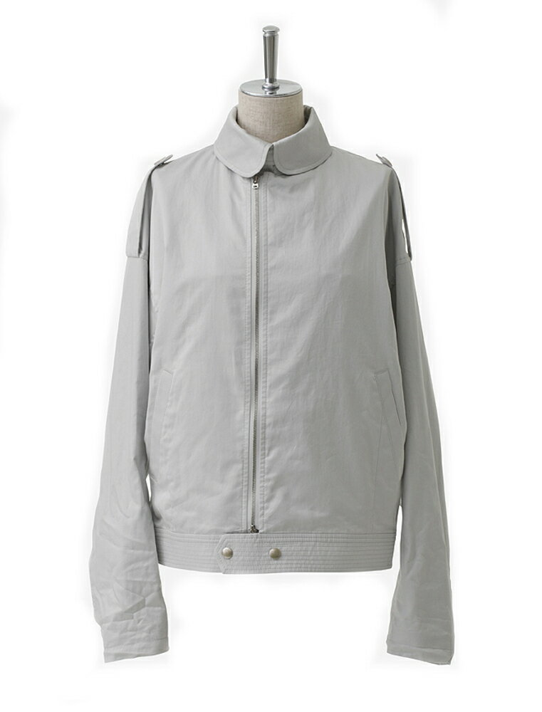 2016年新作 beautiful people ビューティフルピープル 17S/S finx cotton satin french flight jacket light gray