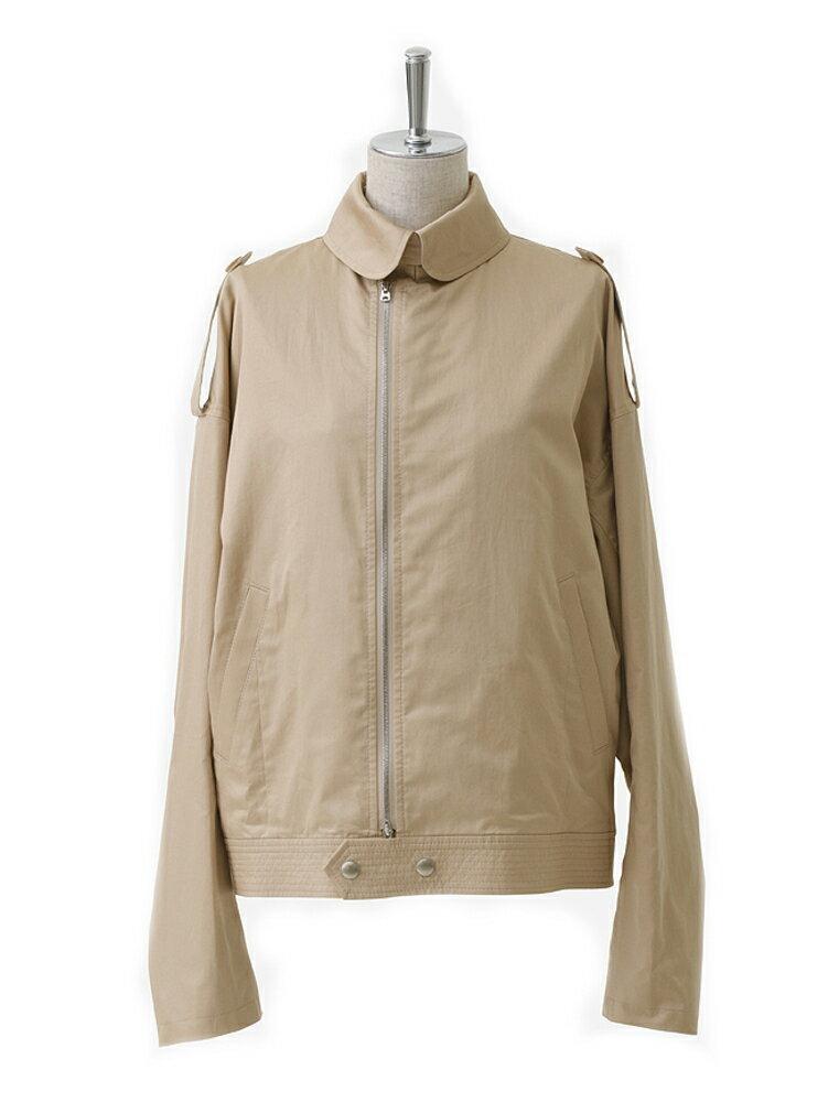 高品質で超激安 beautiful people ビューティフルピープル 17S/S finx cotton satin french flight jacket beige