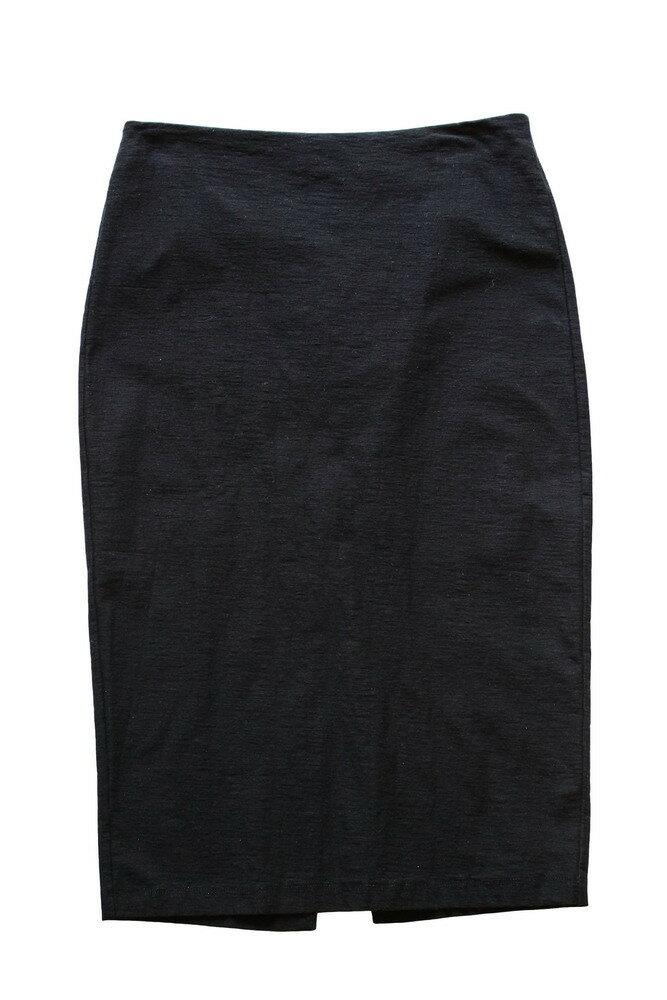 JAMES PERSE ジェームスパース WQC5840 ミモレ丈スカート BLACK