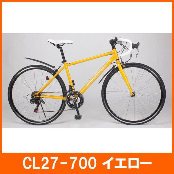 【送料無料】21Technology 21テクノロジー 700C ロードバイク シマノ12段変速 自転車本体 イエロー【代引不可】