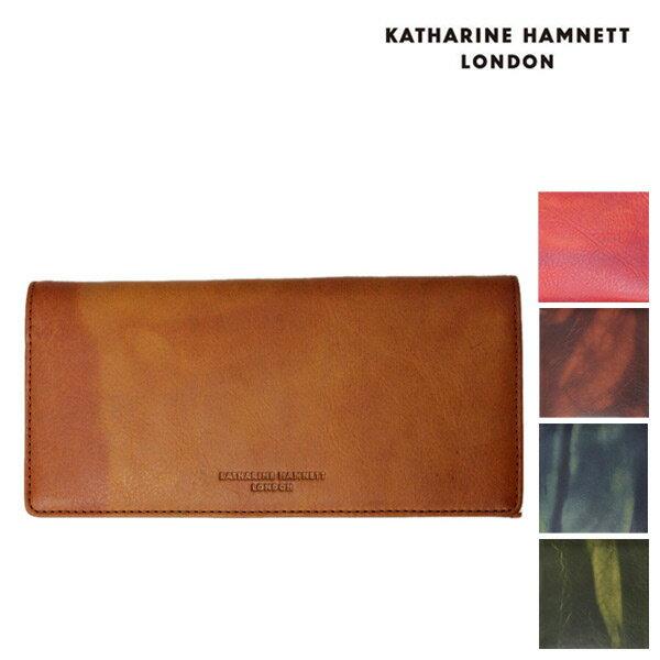 今週激安商品 正規取扱店 KATHARINE HAMNETT LONDON (キャサリンハムネット ロンドン) FLUID 束入れ レザーウォレット 財布 全5色