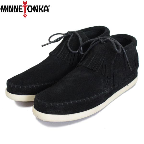 正規取扱店 MINNETONKA(ミネトンカ) VENICE(ヴェニス) #459 フリンジショートブーツ BLACK レディース MT427