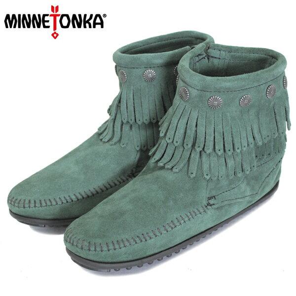 正規取扱店 MINNETONKA(ミネトンカ) Double Fringe Side Zip Boot(ダブルフリンジサイドジップブーツ) #697P PINE レディース MT408