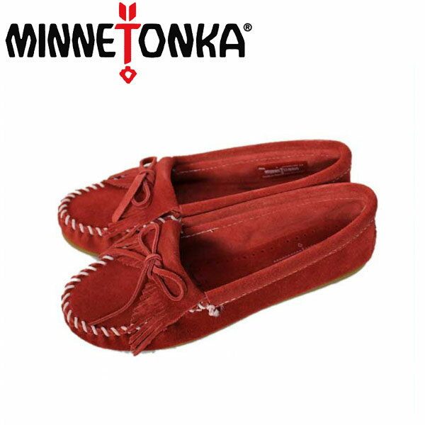 正規取扱店 MINNETONKA(ミネトンカ) Kilty Suede Moc(キルティスウェードモック) #406 RED レディース MT029