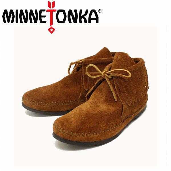 正規取扱店 MINNETONKA(ミネトンカ) Classic Fringe Boots(クラシックフリンジブーツ)#682 BROWN SUEDE レディース MT214