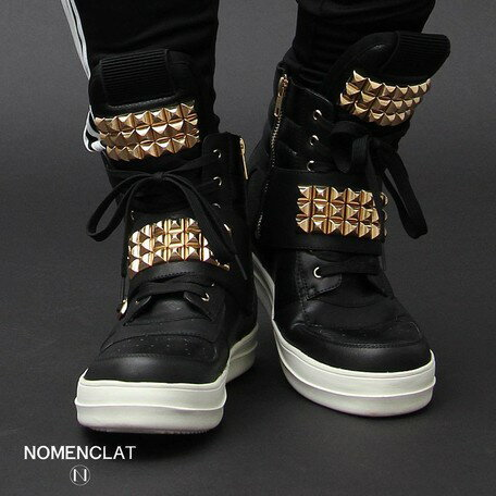 大感謝祭限定 最大50%OFF&ポイント2倍 スニーカー メンズ ブーツ・シューズ NOMENCLAT ノーメンクラート ピラミッド スタッズ 靴 紳士靴 ウォーキング
