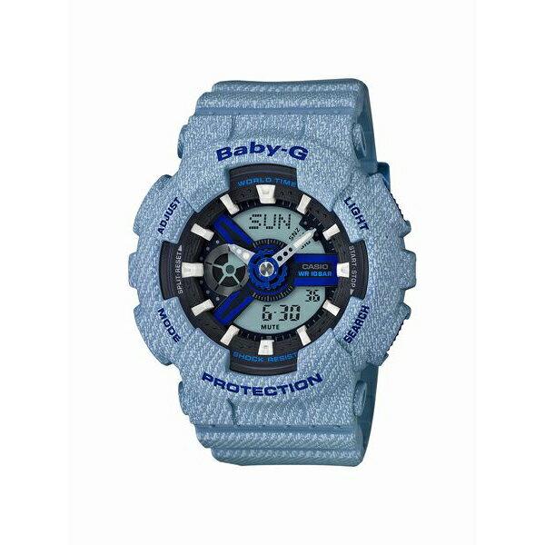 Baby-G ベビージー CASIO カシオ DENIM'D COLOR デニム 【国内正規品】 腕時計 BA-110DE-2A2JF 【送料無料】【代引き手数料無料】【あす楽対応】