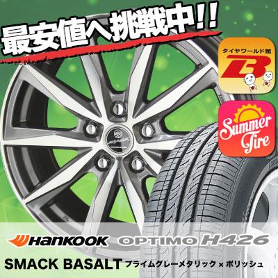 215/50R17 HANKOOK ハンコック OPTIMO H426 オプティモ H426 SMACK BASALT スマック バサルト サマータイヤホイール4本セット