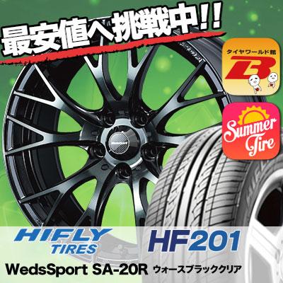 215/65R16 HIFLY ハイフライ HF201 エイチエフ ニイマルイチ WedsSport SA-20R ウェッズスポーツ SA20R サマータイヤホイール4本セット