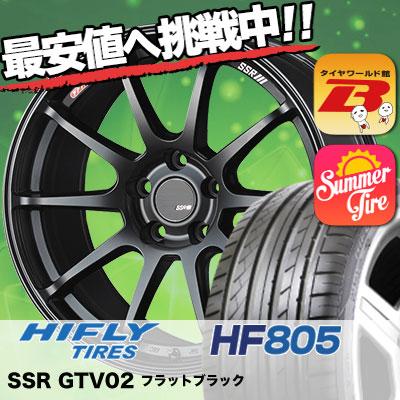 215/45R18 HIFLY ハイフライ HF805 エイチエフ ハチマルゴ SSR GTV02 SSR GTV02 サマータイヤホイール4本セット