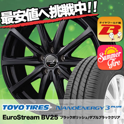 205/65R15 TOYO TIRES トーヨー タイヤ NANOENERGY3 PLUS ナノエナジー3 プラス EuroStream BV25 ユーロストリーム BV25 サマータイヤホイール4本セット