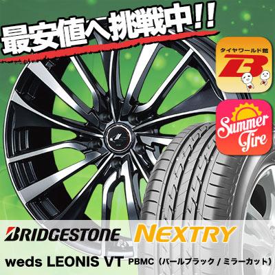 205/65R16 95H BRIDGESTONE ブリヂストン NEXTRY ネクストリー weds LEONIS VT ウエッズ レオニス VT サマータイヤホイール4本セット