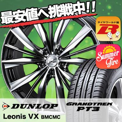 225/65R18 103H DUNLOP ダンロップ GRANDTREK PT3 グラントレック PT3 weds LEONIS VX ウエッズ レオニス VX サマータイヤホイール4本セット