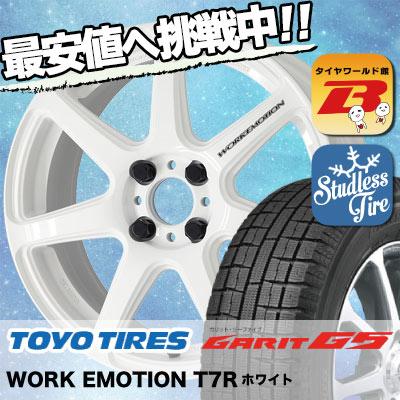 185/60R15 TOYO TIRES トーヨータイヤ GARIT G5 ガリット G5 WORK EMOTION T7R ワーク エモーション T7R スタッドレスタイヤホイール4本セット