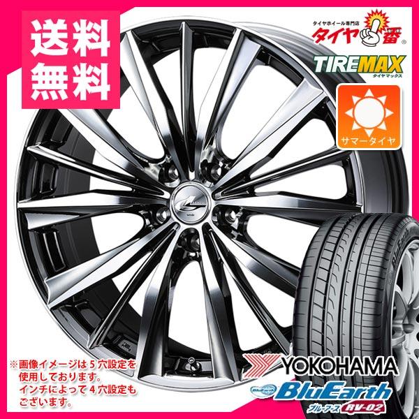 サマータイヤ 245/40R19 98W XL ヨコハマ ブルーアース RV-02 & レオニス VX BMCミラーカット 8.0-19 タイヤホイール4本セット