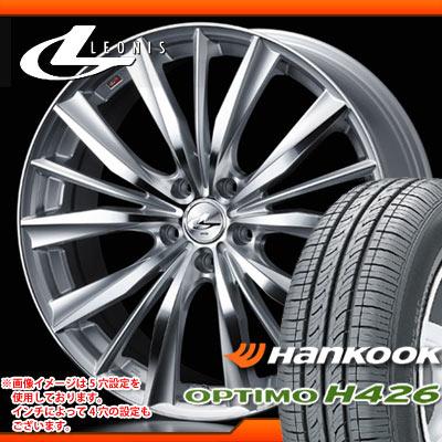 サマータイヤ 195/65R15 91H ハンコック オプティモ H426 & レオニス VX HSミラーカット 6.0-15 タイヤホイール4本セット