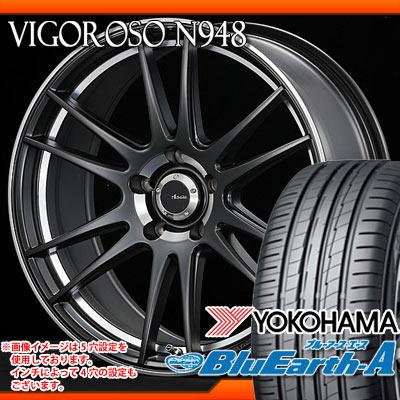 サマータイヤ 215/55R17 94W ヨコハマ ブルーアース・エース AE50 A/a & アドヴァンティレーシング ヴィゴロッソ N948 7.0-17 タイヤホイール4本セット