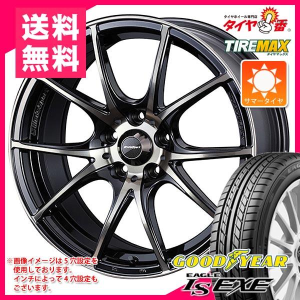 サマータイヤ 215/50R17 95V XL グッドイヤー イーグル LSエグゼ & ウェッズスポーツ SA-10R 7.0-17 タイヤホイール4本セット