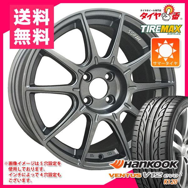 サマータイヤ 225/50R17 98Y XL ハンコック ベンタス V12evo2 K120 & SSR GTX01 7.0-17 タイヤホイール4本セット