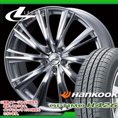 サマータイヤ 185/65R15 88H ハンコック オプティモ H426 & レオニス WX HSミラーカット 6.0-15 タイヤホイール4本セット