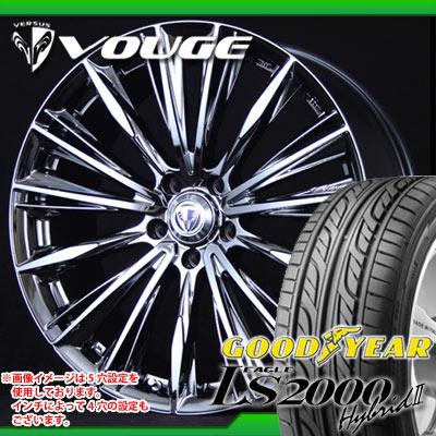 サマータイヤ 215/35R19 85W XL グッドイヤー イーグル LS2000 ハイブリッド2 & レイズ ベルサス ストラテジーア ヴォウジェ 8.0-19 タイヤホイール4本セット