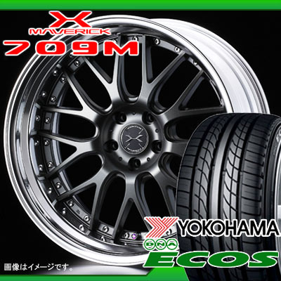 サマータイヤ 225/40R18 88W ヨコハマ DNA エコス ES300 & マーベリック 709M 7.5-18 タイヤホイール4本セット