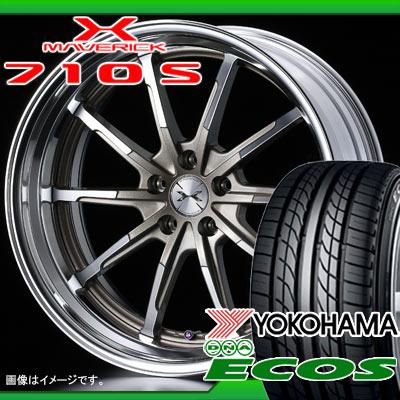 サマータイヤ 225/40R18 88W ヨコハマ DNA エコス ES300 & マーベリック 710S 7.5-18 タイヤホイール4本セット