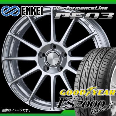 サマータイヤ 215/40R18 85W グッドイヤー イーグル LS2000 ハイブリッド2 & ENKEI エンケイ パフォーマンスライン PF03 7.0-18 タイヤホイール4本セット