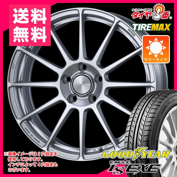 サマータイヤ 185/55R16 83V グッドイヤー イーグル LSエグゼ & ENKEI エンケイ パフォーマンスライン PF03 6.5-16 タイヤホイール4本セット