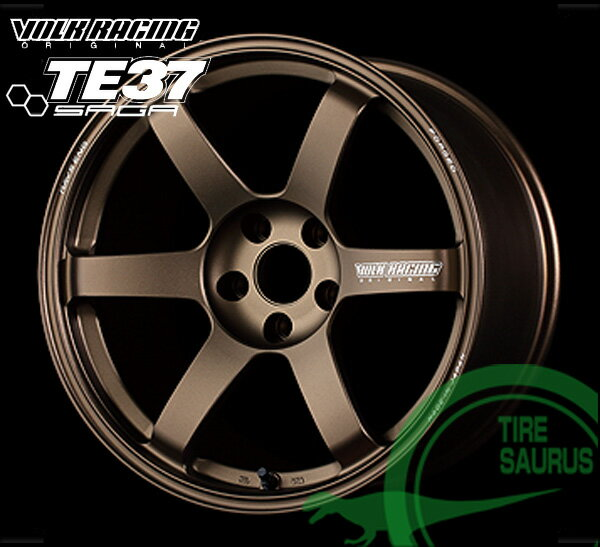 RAYS(レイズ) VOLK RACING TE37 SAGA 18×9.0J PCD114/5 +45 ボア径:73.1φ カラー:BR(ブロンズ) �レーシング TE37 サーガ】 注)ホイール1枚��