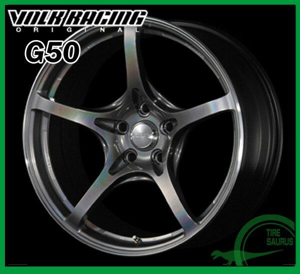 【ホイール1枚】RAYS(レイズ) VOLK RACING G5018×9.0J PCD100/5H +45 ボア径:65φカラー:プリズムダークシルバー/リムエッジDC(PD)【ボルクレーシング G50】