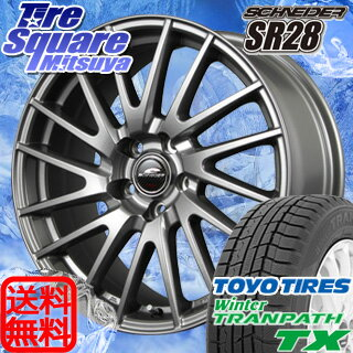 ●告知●楽天感謝祭最大23倍10/14土 10:00~ TOYO WINTER TRANPATH TX 195/60R16MANARAY SCHNEIDER SR28 16 X 6.5 +48 5穴 114.3